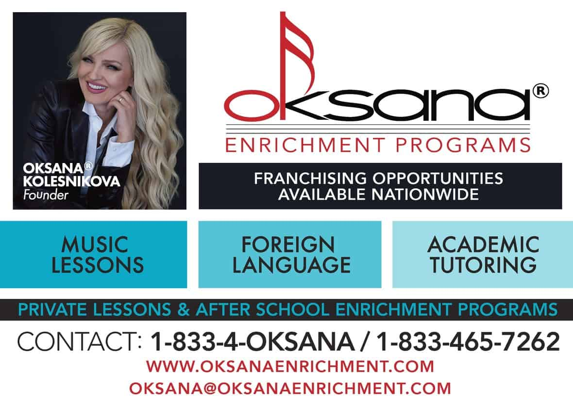 Oksana Enrichment Franchise Ad