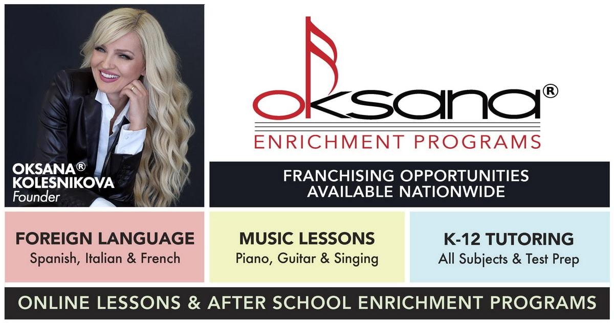 Oksana Enrichment Franchising Banner