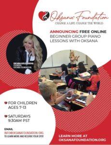 Oksana Community Outreach FREE Piano Lessons