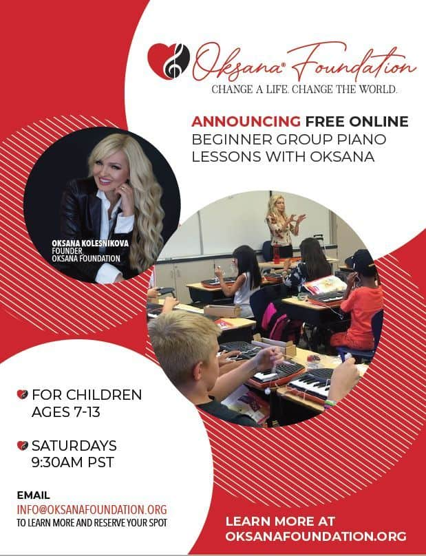 Oksana Community Outreach FREE Piano Lessons