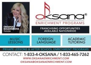 Oksana Enrichment - Music Lessons, Foreign Languages, Academic Tutoring